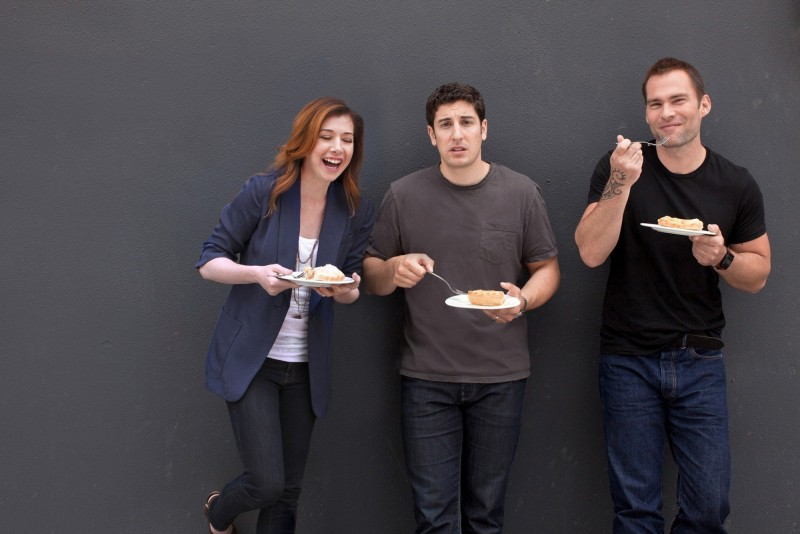 American Pie - Ancora insieme Alyson Hannigan, Jason Biggs e Seann William Scott in una immagine promo