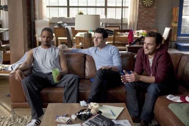Damon Wayans Jr., Max Greenfield, Jake Johnson nel pilot di New Girl