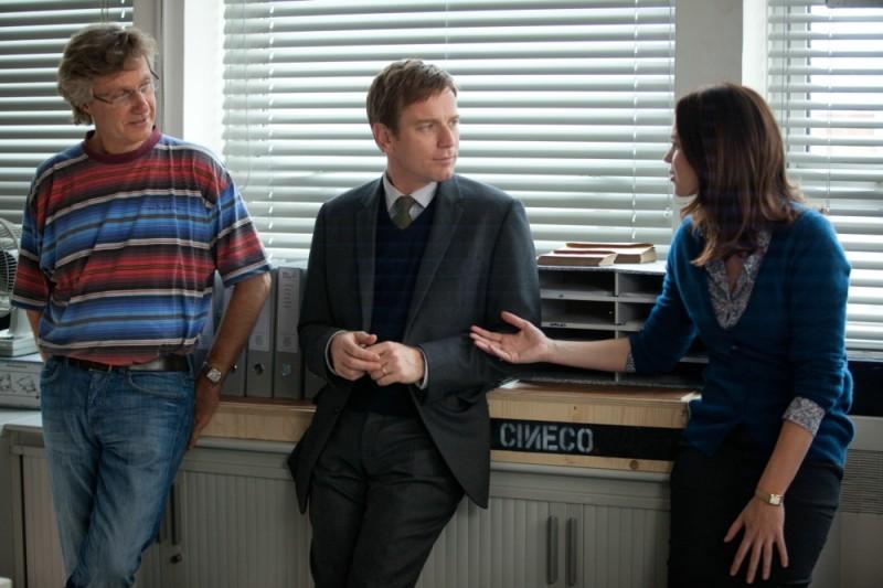 Il pescatore di sogni: Ewan McGregor ed Emily Blunt sul set del film insieme al regista Lasse Hallström