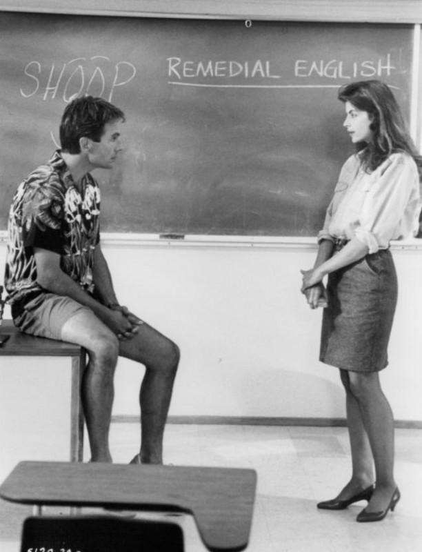 Kirstie Alley con Mark Harmon in una foto promo di Lezioni d'estate