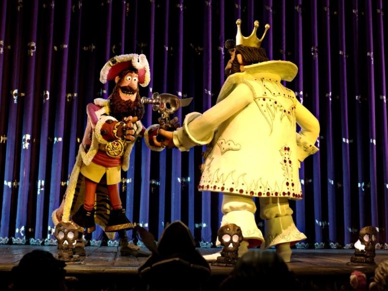 Pirati! Briganti da strapazzo: il Capitano dei Pirati in una divertente scena del film