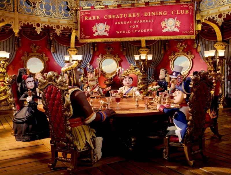 Pirati! Briganti da strapazzo: il Rare Creatures Dining Club in una scena del film