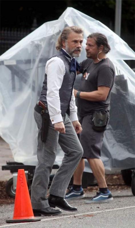 Primo sguardo a Christoph Waltz sul set di Django Unchained