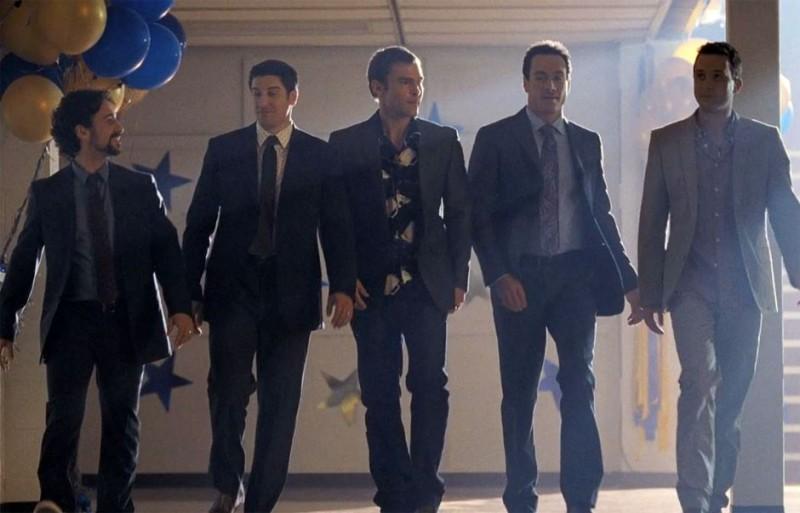American Pie - Ancora insieme: il cast maschile al completo in una scena
