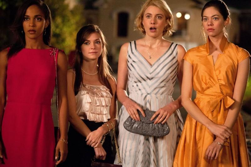 Greta Gerwig, Megalyn Echikunwoke, Carrie MacLemore e Analeigh Tipton in Damsels in Distress