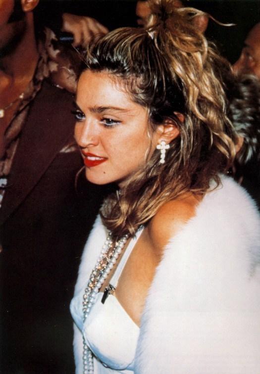 Madonna alla premiere di Cercasi Susan disperatamente nel 1985