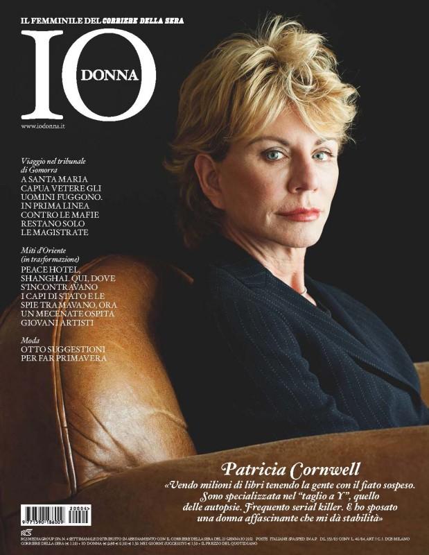Patricia Cornwell sulla copertina di Io, Donna