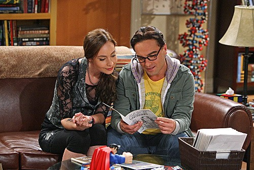 The Big Bang Theory: Johnny Galecki e Courtney Ford nell'episodio The Good Guy Fluctuation