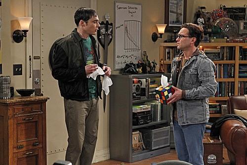 The Big Bang Theory: Johnny Galecki e Jim Parsons nell'episodio The Rhinitis Revelation