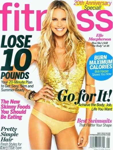 Elle 'The Body' Macpherson in cover sul magazine Fitness a 48 anni.