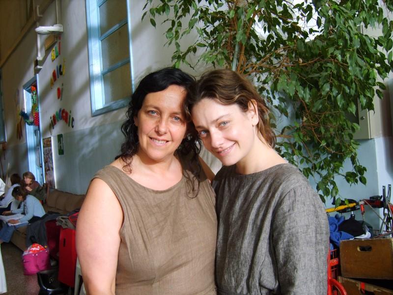 Giovanna Mezzogiorno e Paola Crova sul set di Vincere