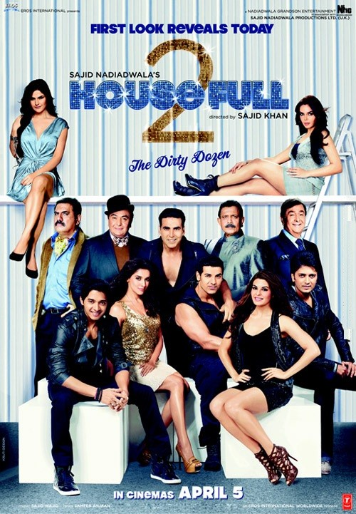Housefull 2: la locandina del film