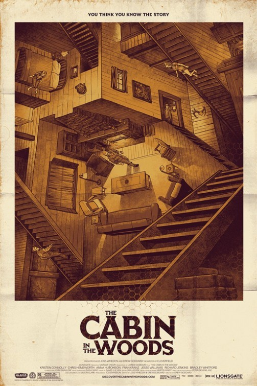 The Cabin in the Woods: nuovo poster USA in stile vintage
