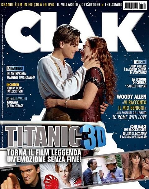 Titanic in 3D: Kate Winslet e Leonardo DiCaprio sulla copertina di Ciak che celebra la re-release del film
