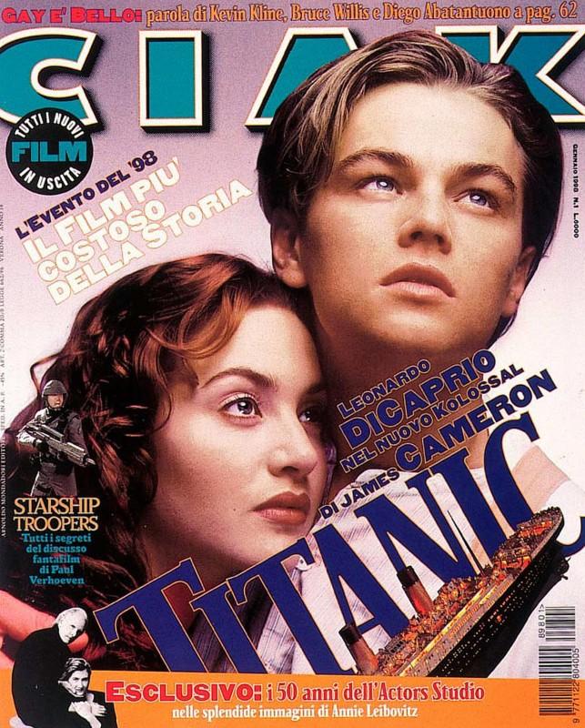 Titanic: Kate Winslet e Leonardo DiCaprio sulla copertina di Ciak che parla del film