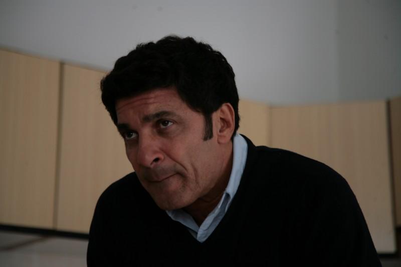 Gaetano Antinoro durante le riprese del Mediocorto La Corsa alla Vita