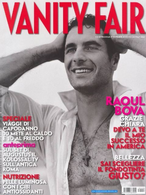 Raoul Bova in cover su Vanity Fair - 2003