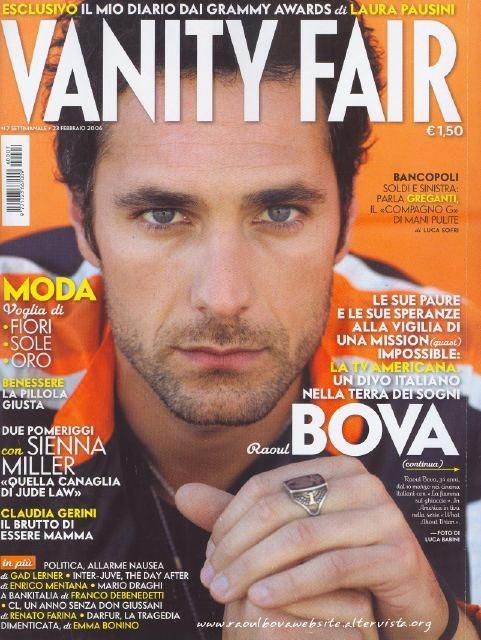 Raoul Bova in cover su Vanity Fair - 2007
