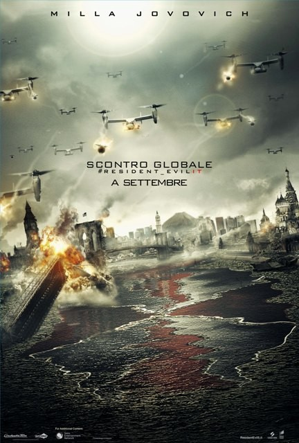 Resident Evil: Retribution: il teaser poster italiano