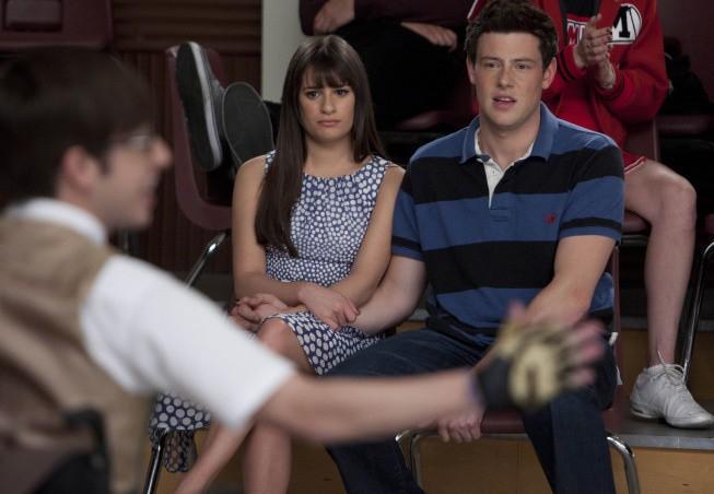 Glee: Lea Michele e Cory Monteith nell'episodio Big Brother
