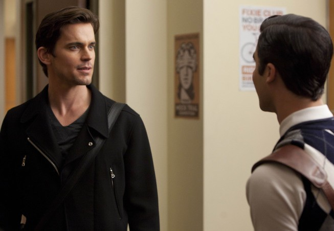 Glee: Matthew Bomer e Darren Criss nell'episodio Big Brother