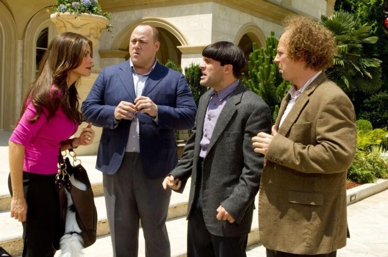 Sean Hayes, Will Sasso e Chris Diamantopoulos, protagonisti de I tre marmittoni con Sofia Vergara