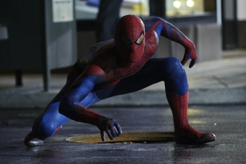 Andrew Garfield nei 'panni' dell'Uomo Ragno in una scena di The Amazing Spider-Man