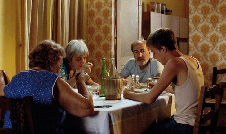 I giorni della vendemmia: Marco D'Agostin e Maurizio Tabani in una scena del film