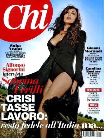 Sabrina Ferilli sulla cover di Chi (aprile 2012)