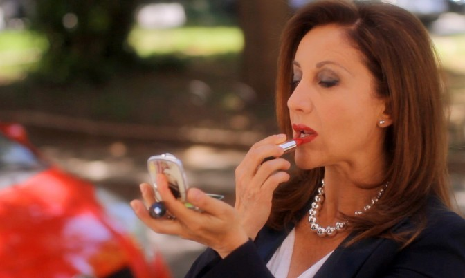 Carla Signoris in una scena Scena tratta dal cortometraggio Countdown, regia di Max Croci