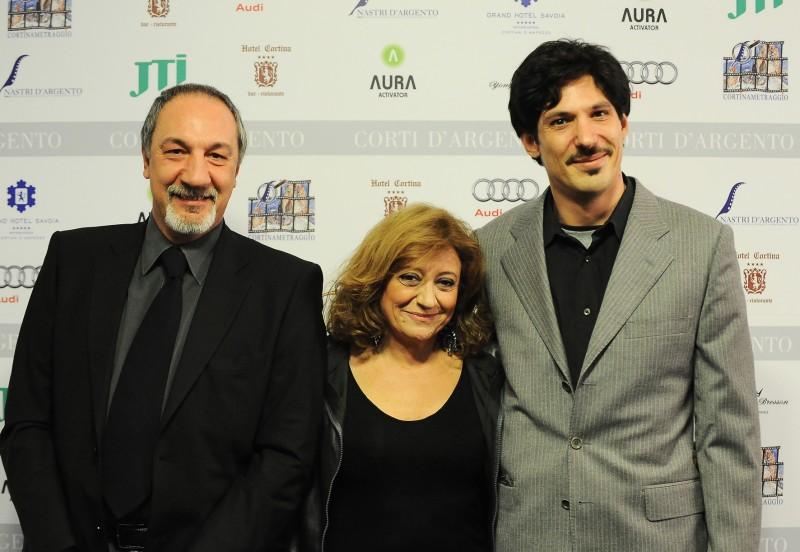 Enzo De Camillis con Laura Delli Colli ai NASTRI D'ARGENTO 2011 - Cortnina D'Ampezzo