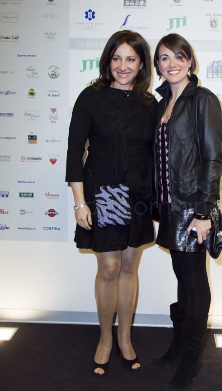 Marilù Paguni con Carla Signoris ai Corti D'argento - Cortina D'Ampezzo 24 marzo 2012