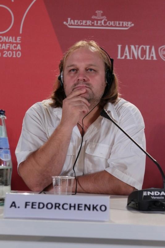 Silent Souls: il regista Aleksei Fedorchenko durante la conferenza stampa di Venezia 67