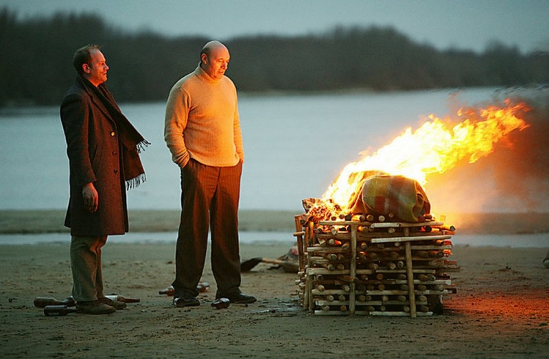 Silent Souls: Yuriy Tsurilo e Igor Sergeyev in un doloroso momento del film