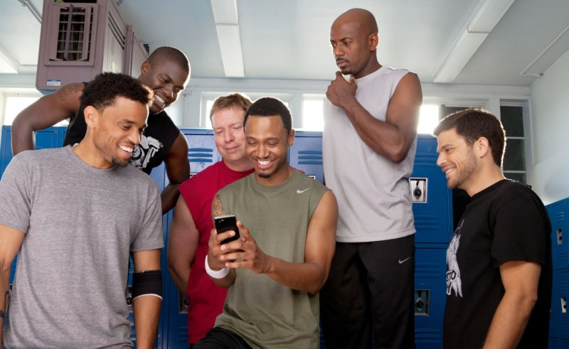 Michael Ealy, Kevin Hart, Gary Owen, Terrence J, Romany Malco e Jerry Ferrara in Think Like a Man (2012).