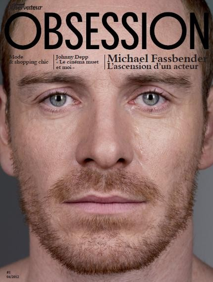 Michael Fassbender in cover su Obsession