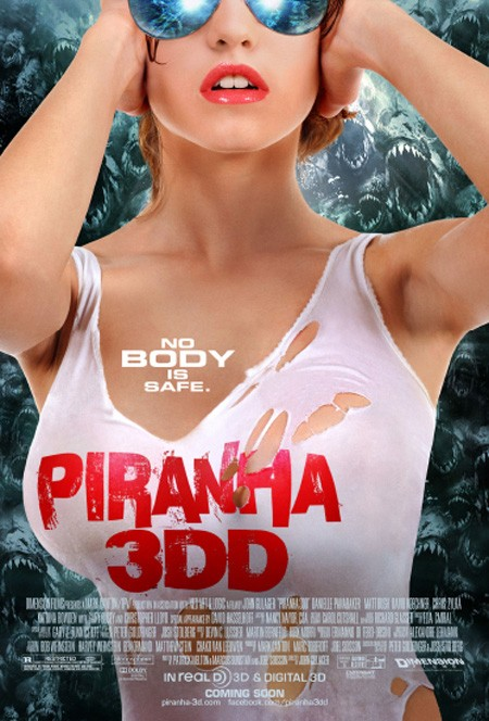 Piranha 3DD: ecco un poster molto sexy