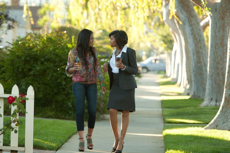 Regina Hall e Taraji P. Henson nella commedia Think Like a Man (2012).