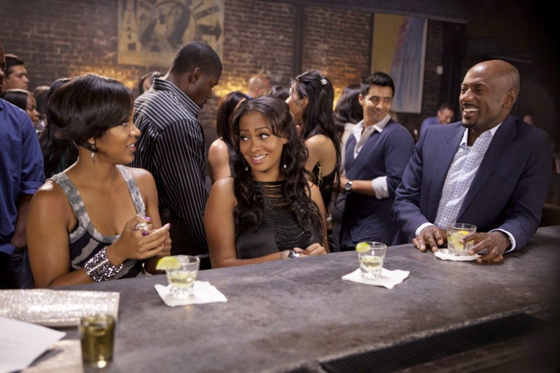 Think Like a Man (2012): Meagan Good con LaLa Vazquez e Romany Malco