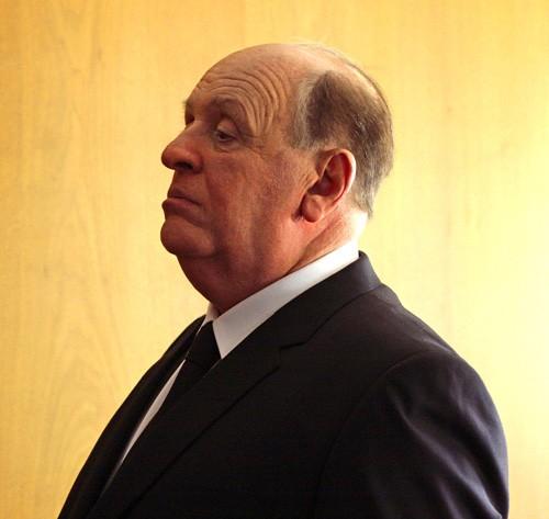 Anthony Hopkins nei panni di Alfred Hitchcock sul set di Hitchcock