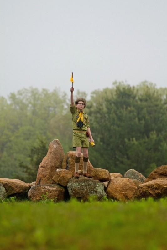 Moonrise Kingdom: il giovane Jared Gilman in una scena del film