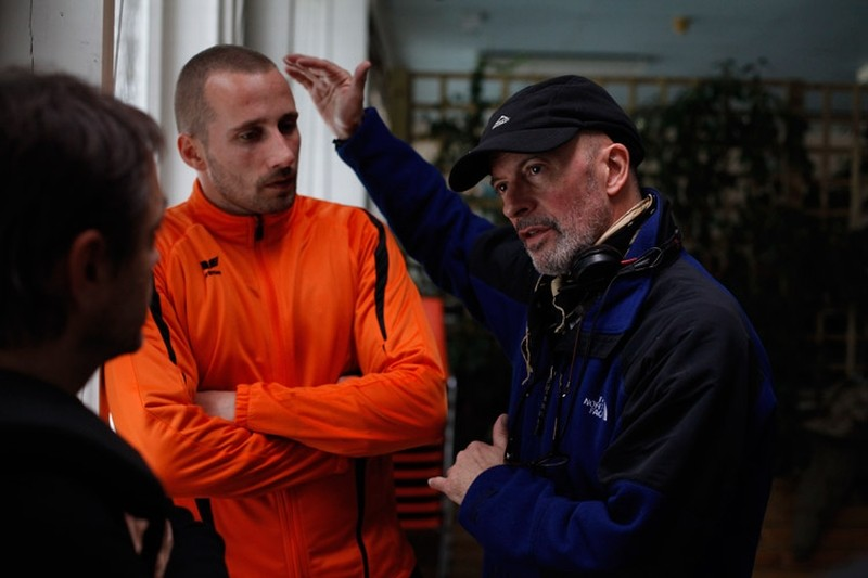 Rust and Bone: Matthias Schoenaerts insieme al regista Jacques Audiard sul set del film