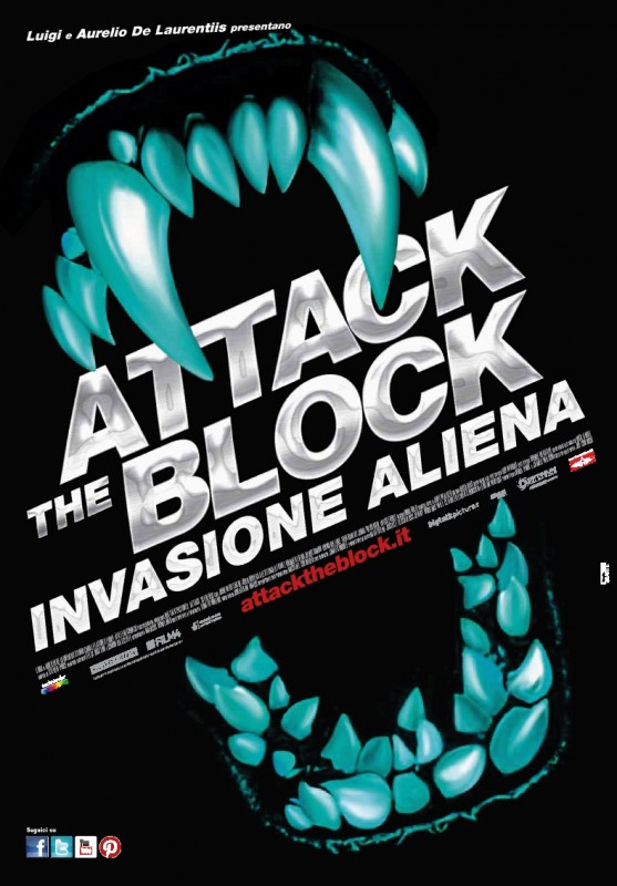Attack the Block - Invasione aliena: la locandina italiana del film