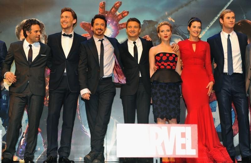 The Avengers: il cast sul palco della première londinese del film