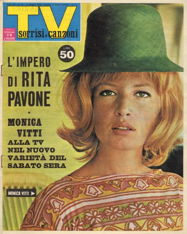 Copertina di TV Sorrisi e Canzoni dedicata a Monica Vitti
