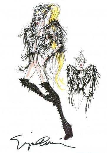 Costume per Born This Way Ball World Tour di Lady Gaga (2012) firmato da Giorgio Armani