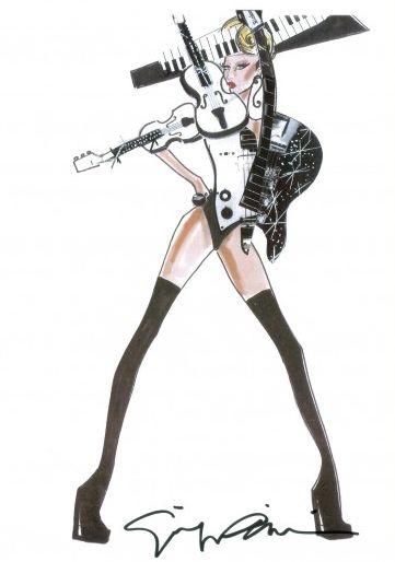 Costume per il Born This Way Ball World Tour di Lady Gaga (del 2012) firmato da Giorgio Armani