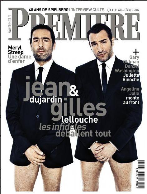 Gli 'infedeli' Jean Dujardin e Gilles Lellouche sulla cover di Premiere