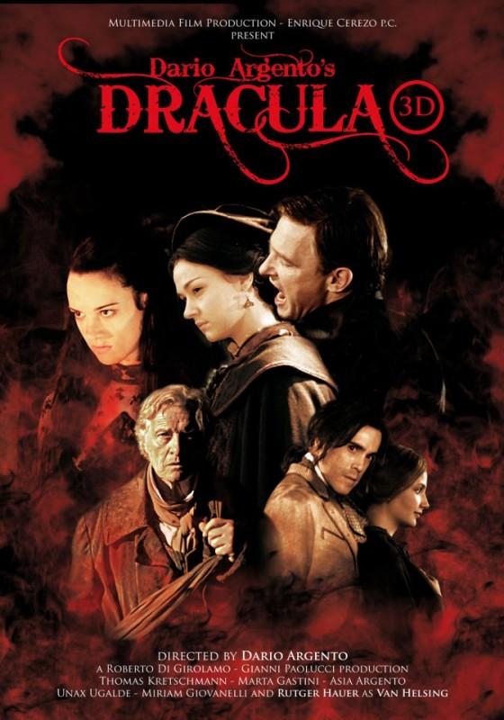Dracula 3D - locandina internazionale del film di Dario Argento.