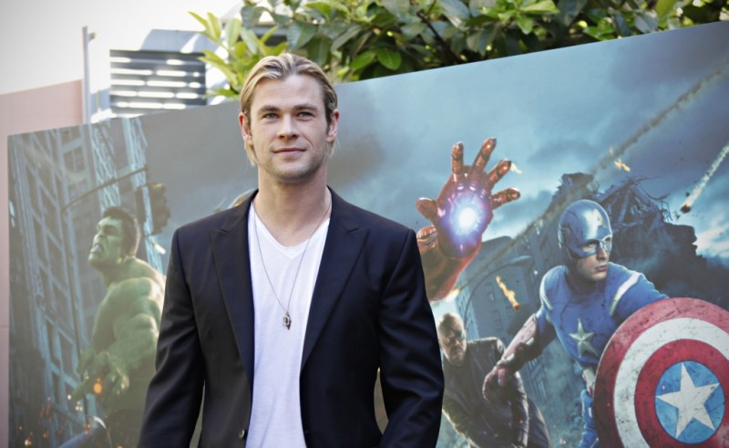 The Avengers: il fascinoso Chris Hemsworth durante il photocall di The Avengers a Roma